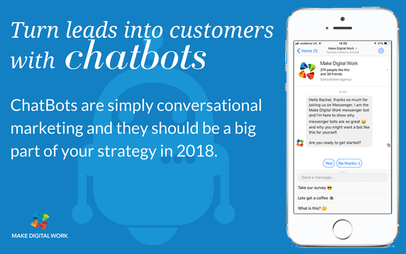 Turn leads into customers with Chatbots