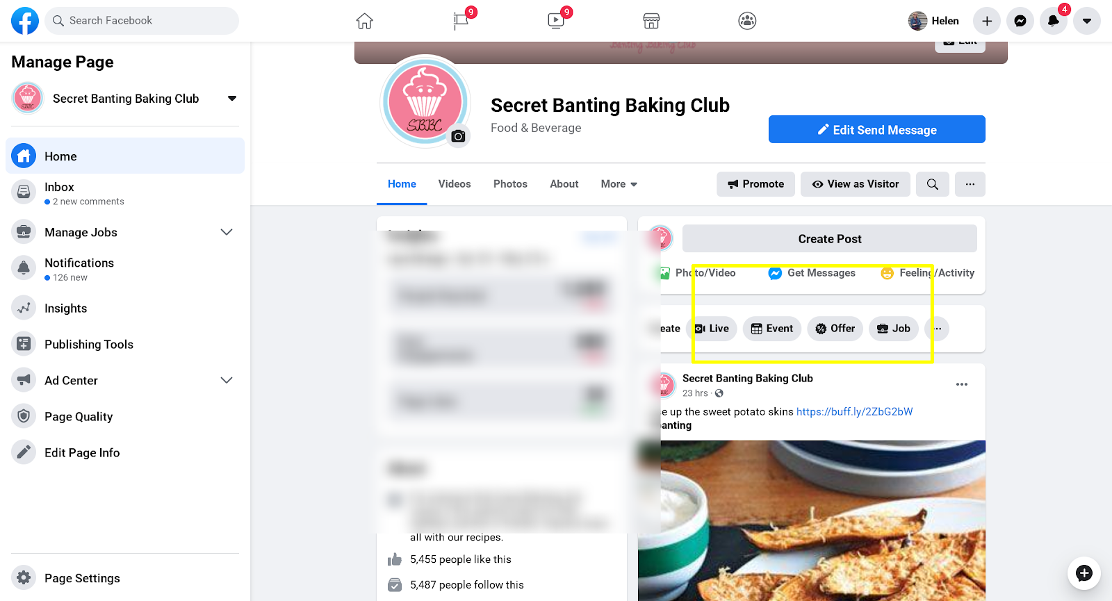 1. Create an event on your Facebook page